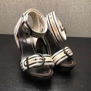Emporio Armani python platform heels
